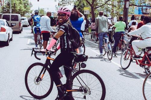Free stock photo of african american, bicycle, biking, black