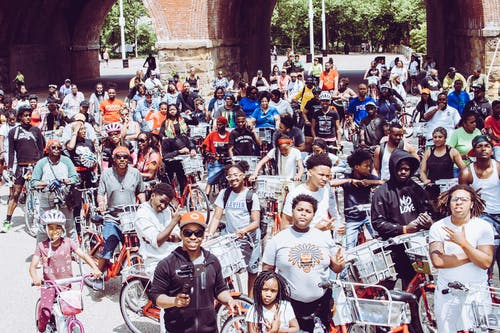Free stock photo of african american, bicycle, biking, black people