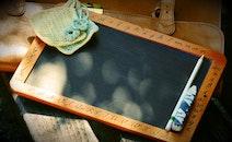 school, wooden, board