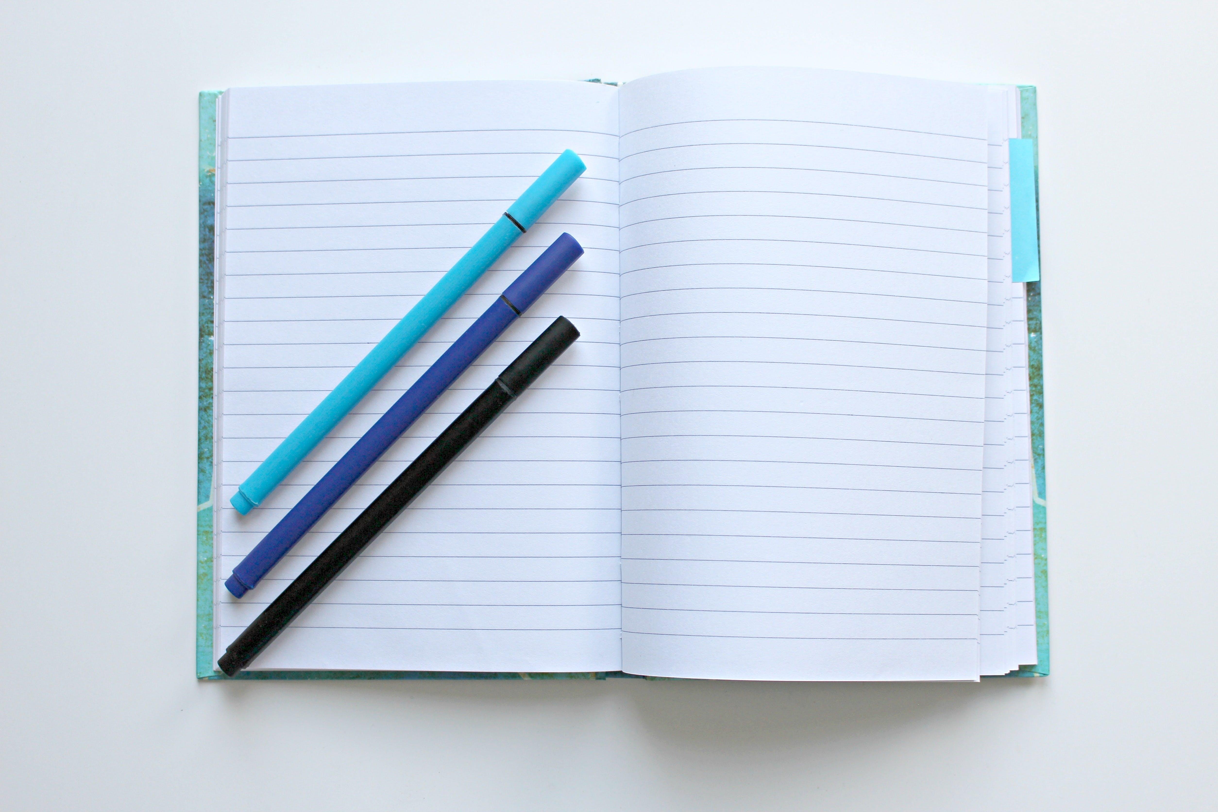 analog, binder, blank
