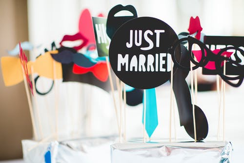 Free stock photo of blur, color, focus, just married