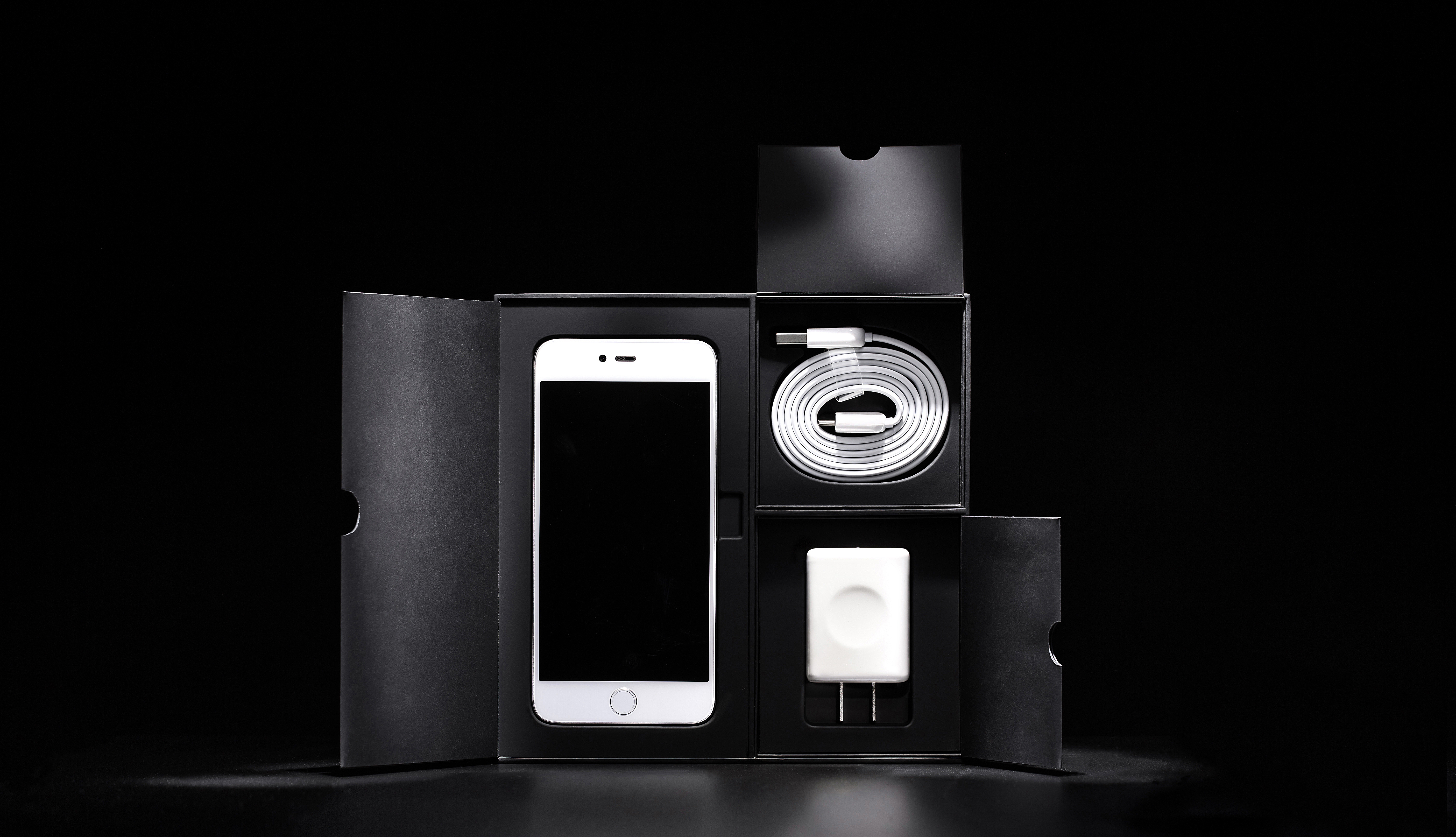 Silver Iphone 6 With Accessories and Box