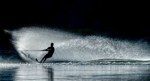 คลังภาพถ่ายฟรี ของ กีฬา, กีฬาทางน้ำ, คน, ซิลูเอตต์