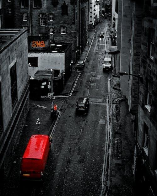 Free stock photo of edinburgh, mobile wallpaper, monochrome