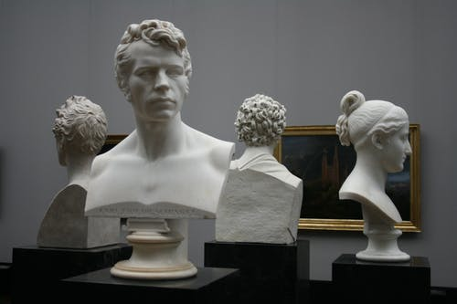 Men and Woman Head Busts