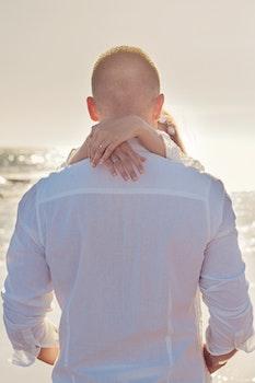 Free stock photo of sea, man, beach, couple