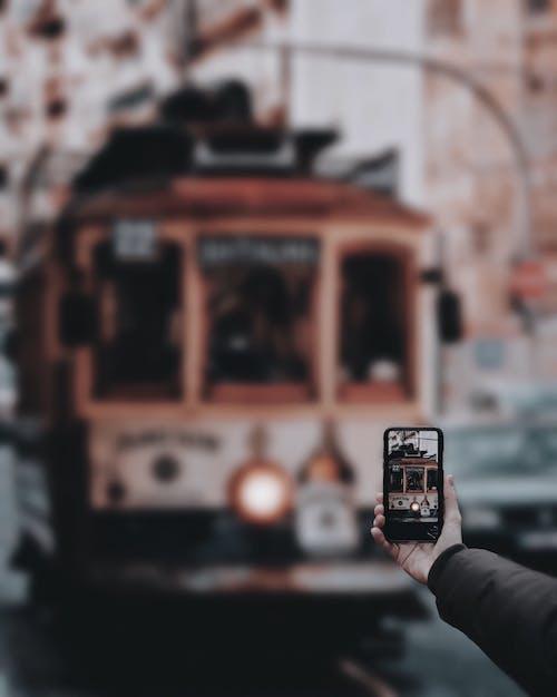 Gratis stockfoto met foto nemen, macro, oefenen, tram