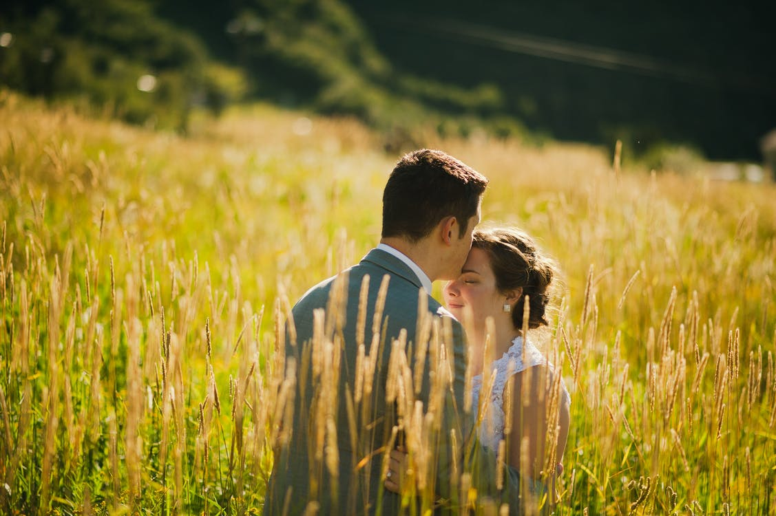 Man and Woman on Grassland