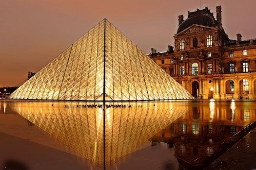 Free stock photo of france, landmark, lights, night