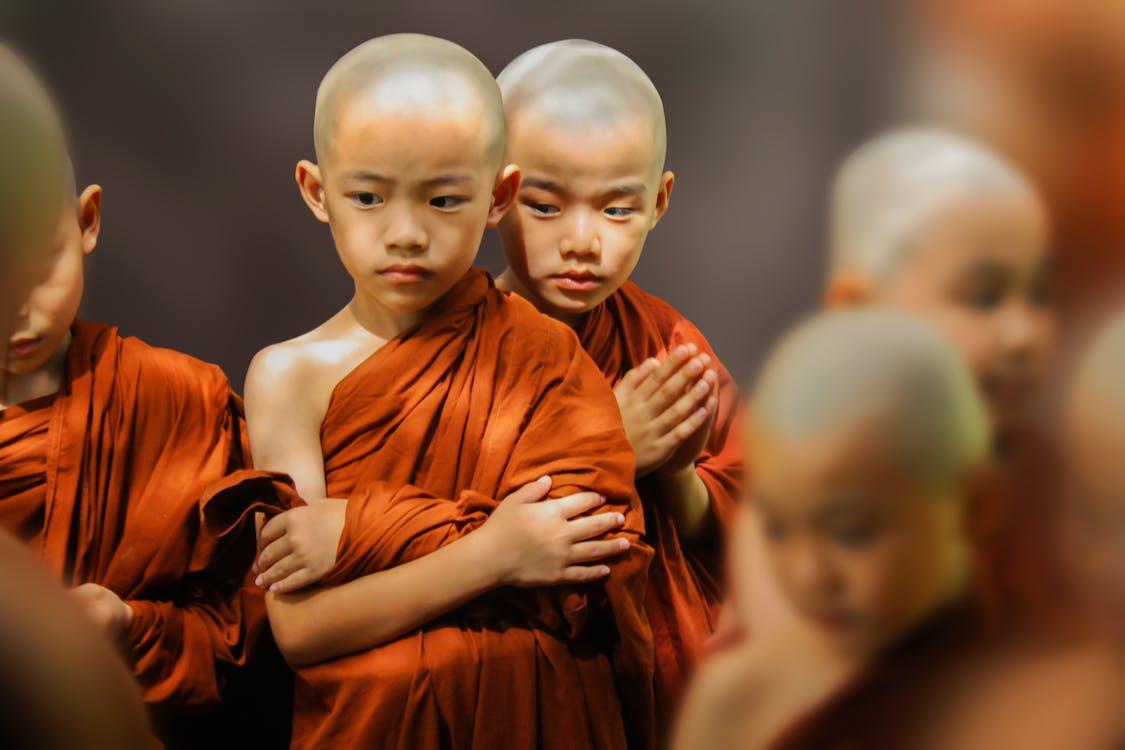 buddyzm, chłopak, dzieci