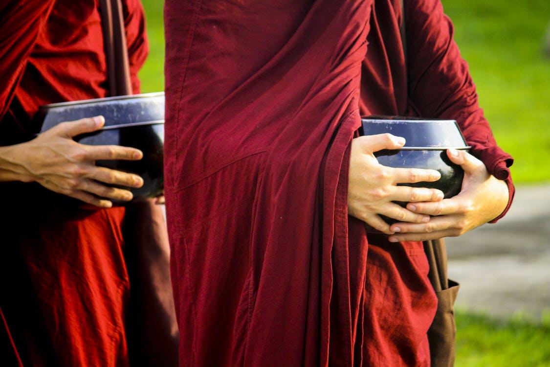 Free stock photo of alms-round, buddhism, buddhist