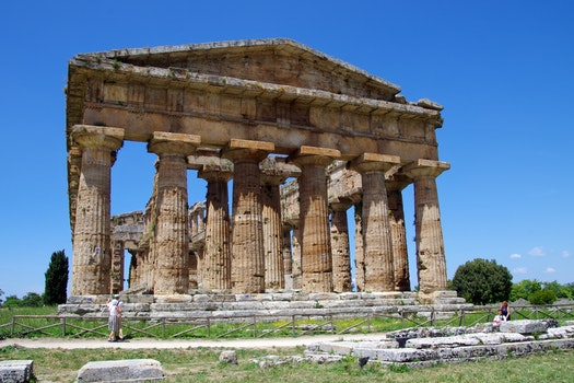 Free stock photo of italy, archaeology, paestum, ancient temple