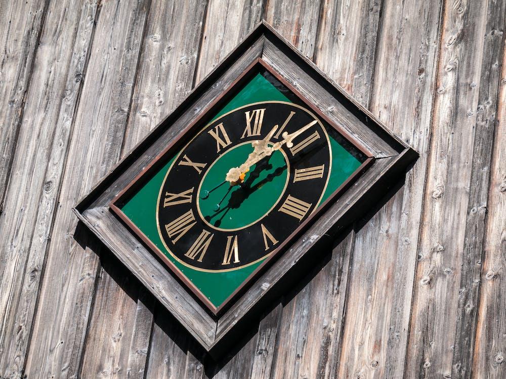 掛鐘, 時間, 木