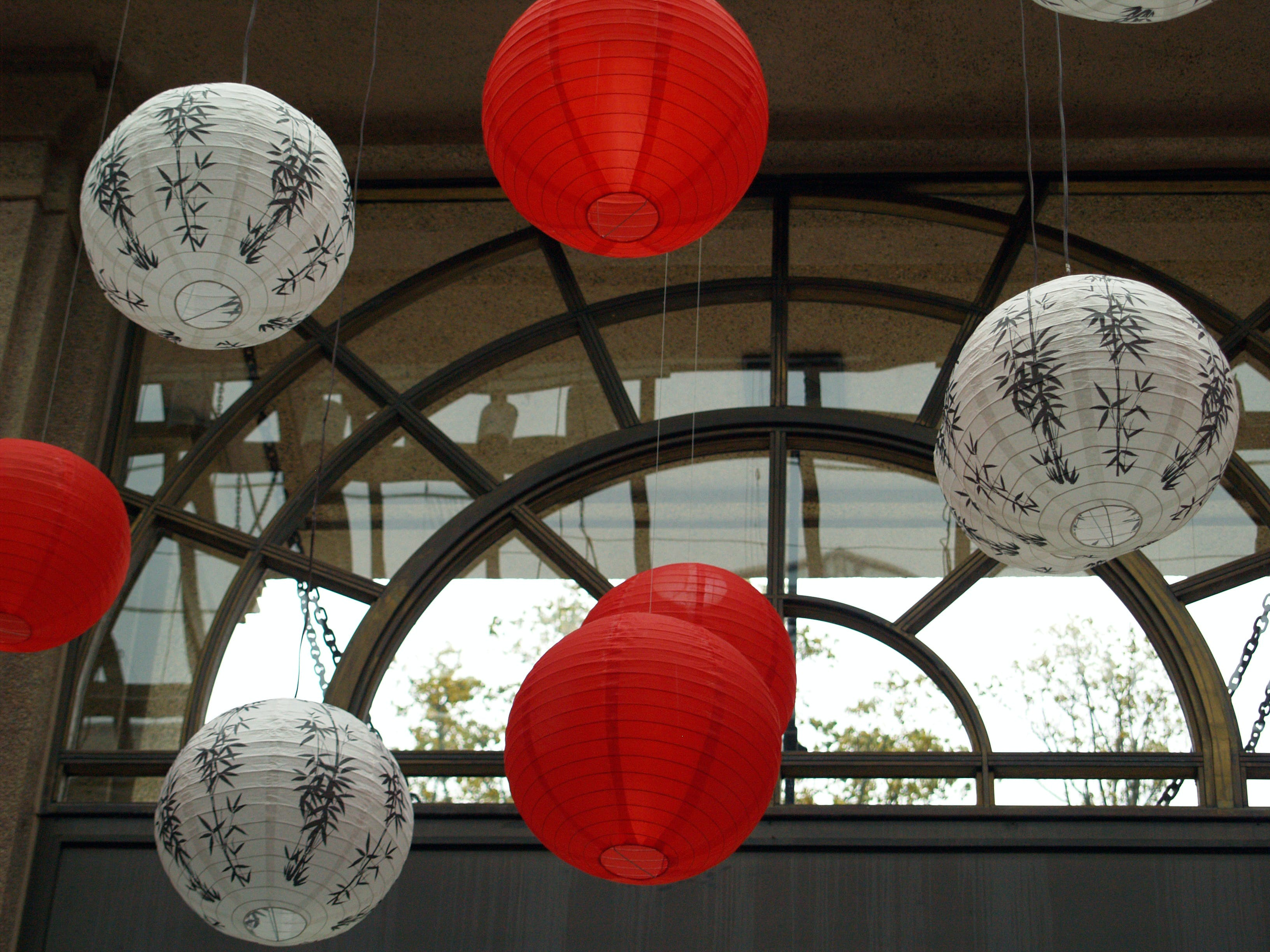 Free stock photo of paper lanterns, red