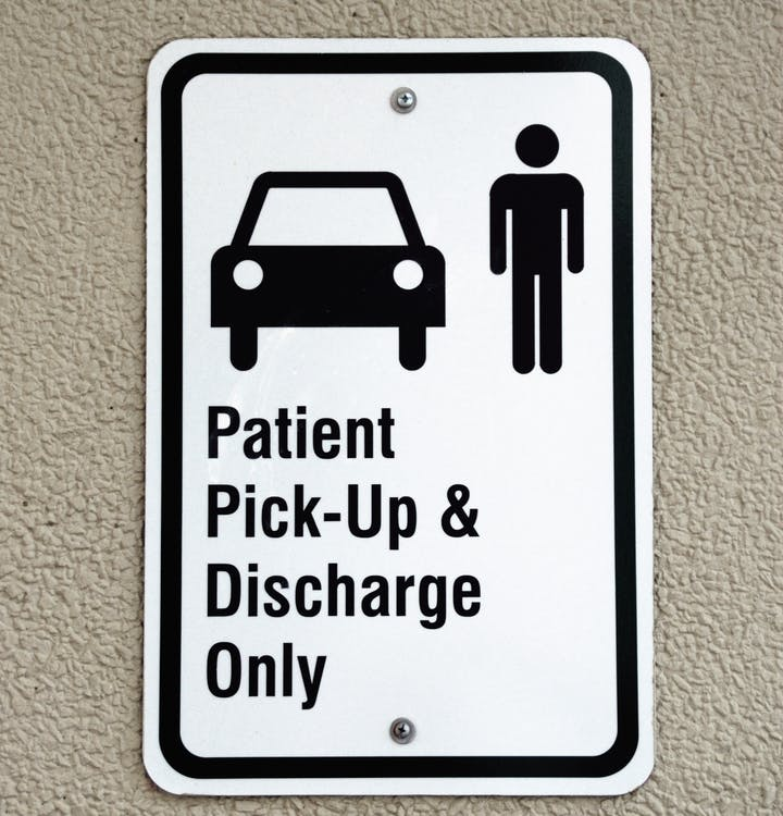 Patient Pick-up & Discharge Only Signage