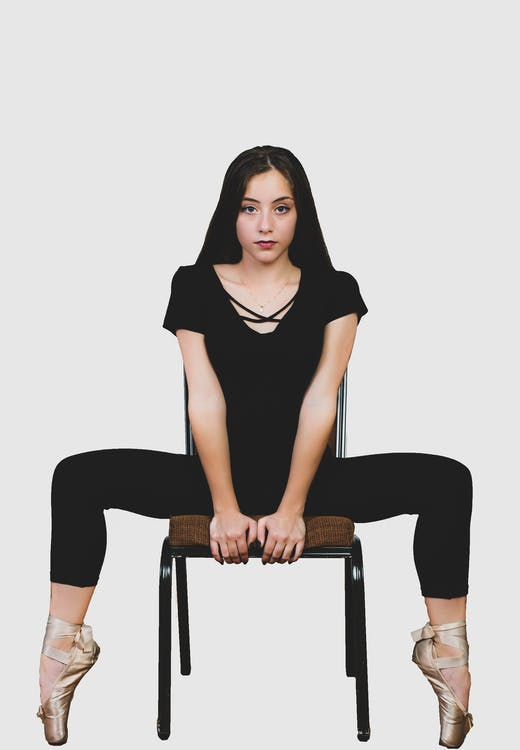 γυναίκα, καθιστός, κάθομαι