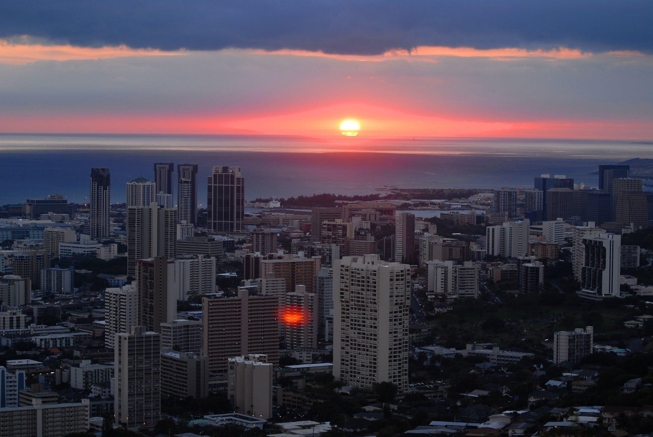 Free stock photo of city, dawn, sky, sunset