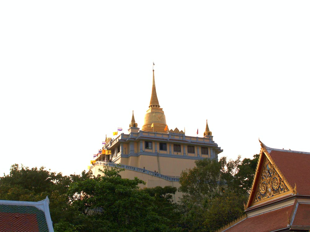 Bangkok, bức tượng, cao
