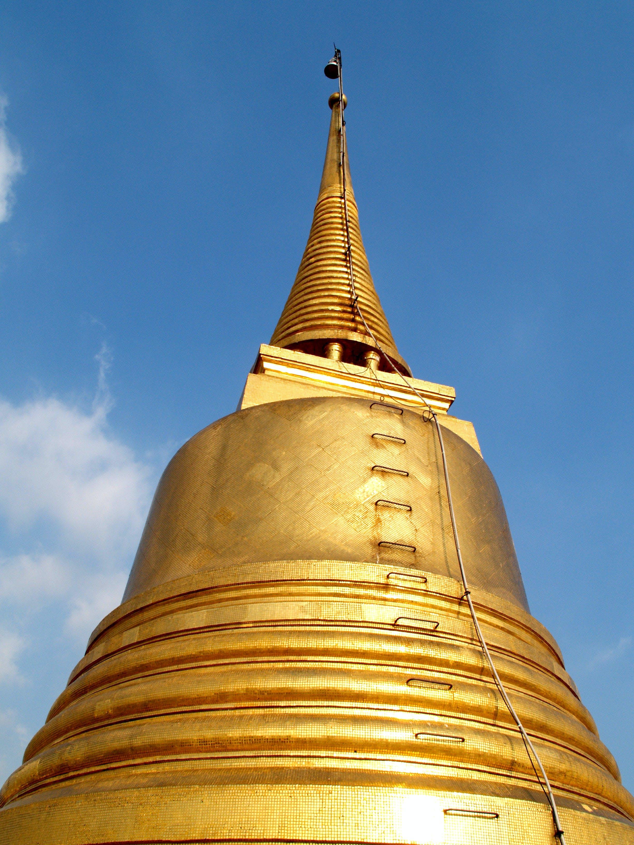 Gold Temple Under Blue Sky
