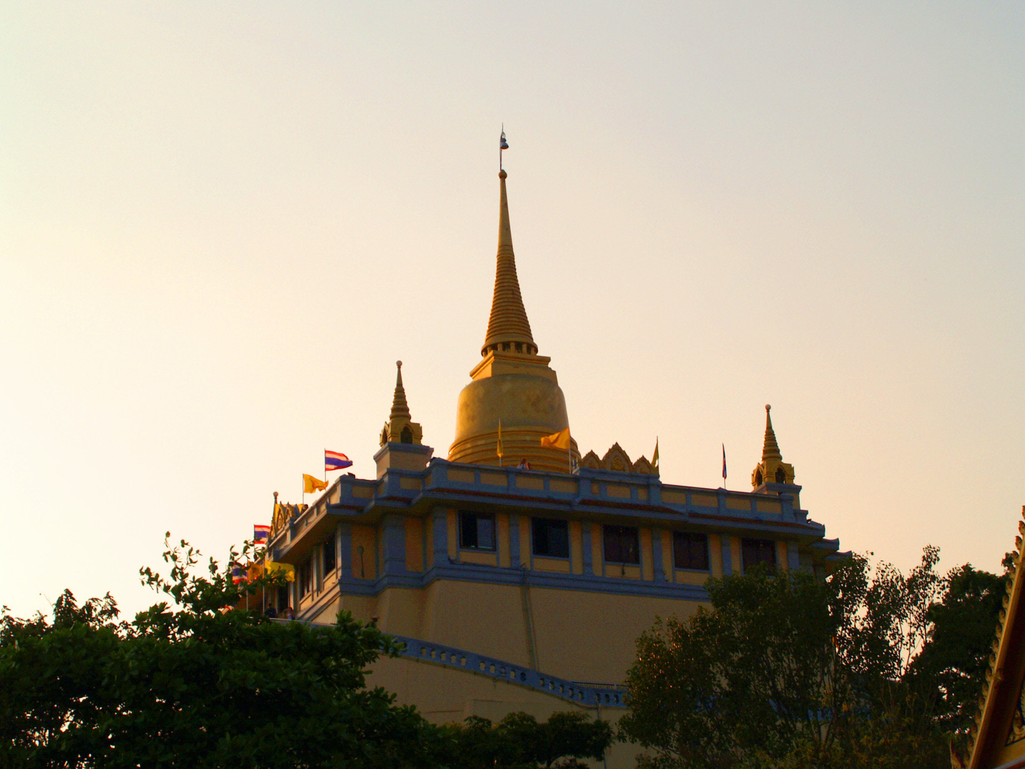 Yellow Temple during Golden Hour