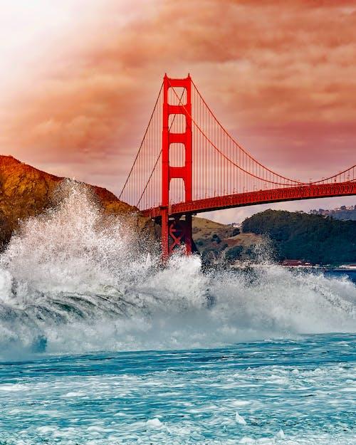 Fotobanka sbezplatnými fotkami na tému architektúra, atrakcie, cestovný ruch, Golden Gate Bridge