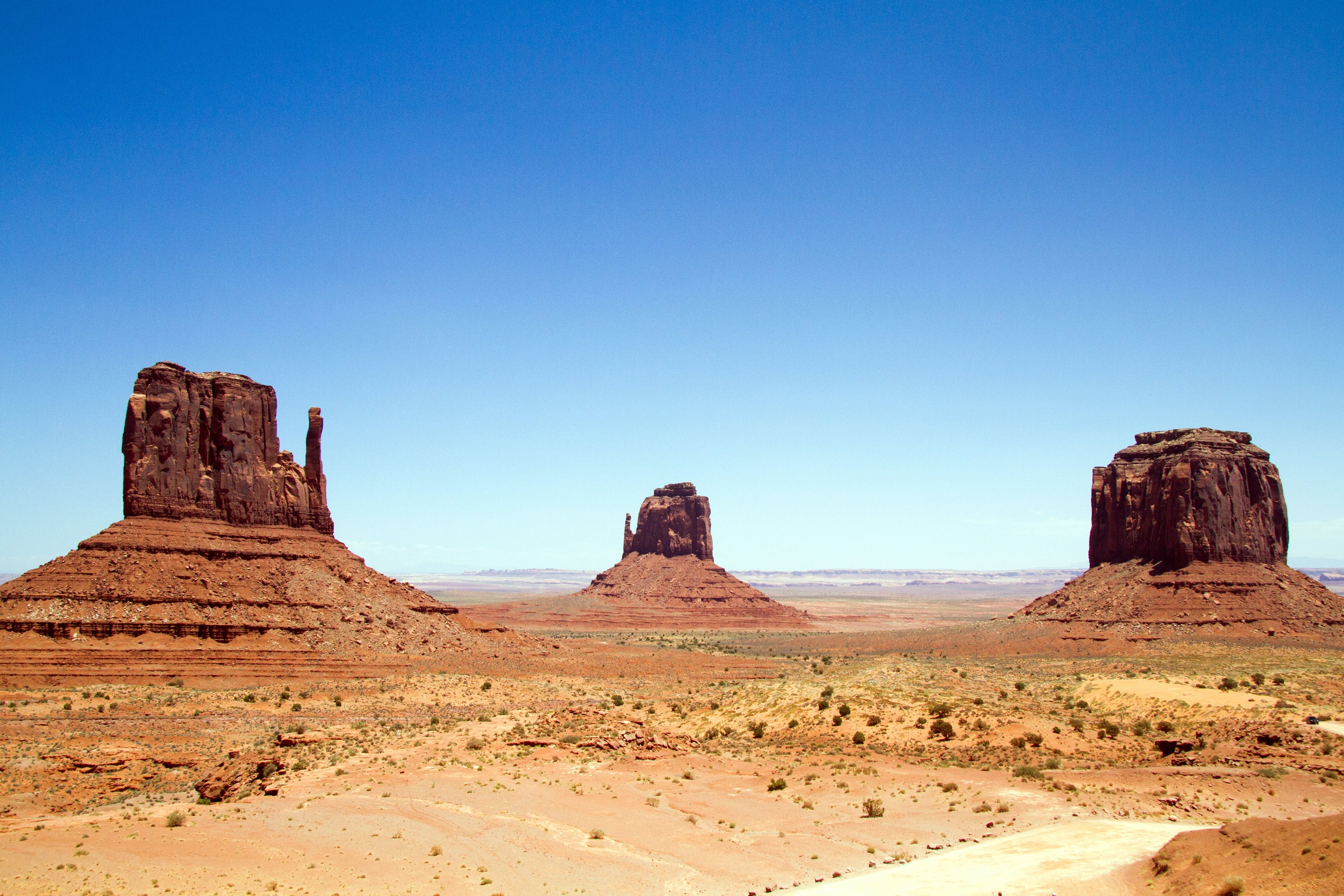 Foto profissional grátis de areia, arenito, árido, cênico
