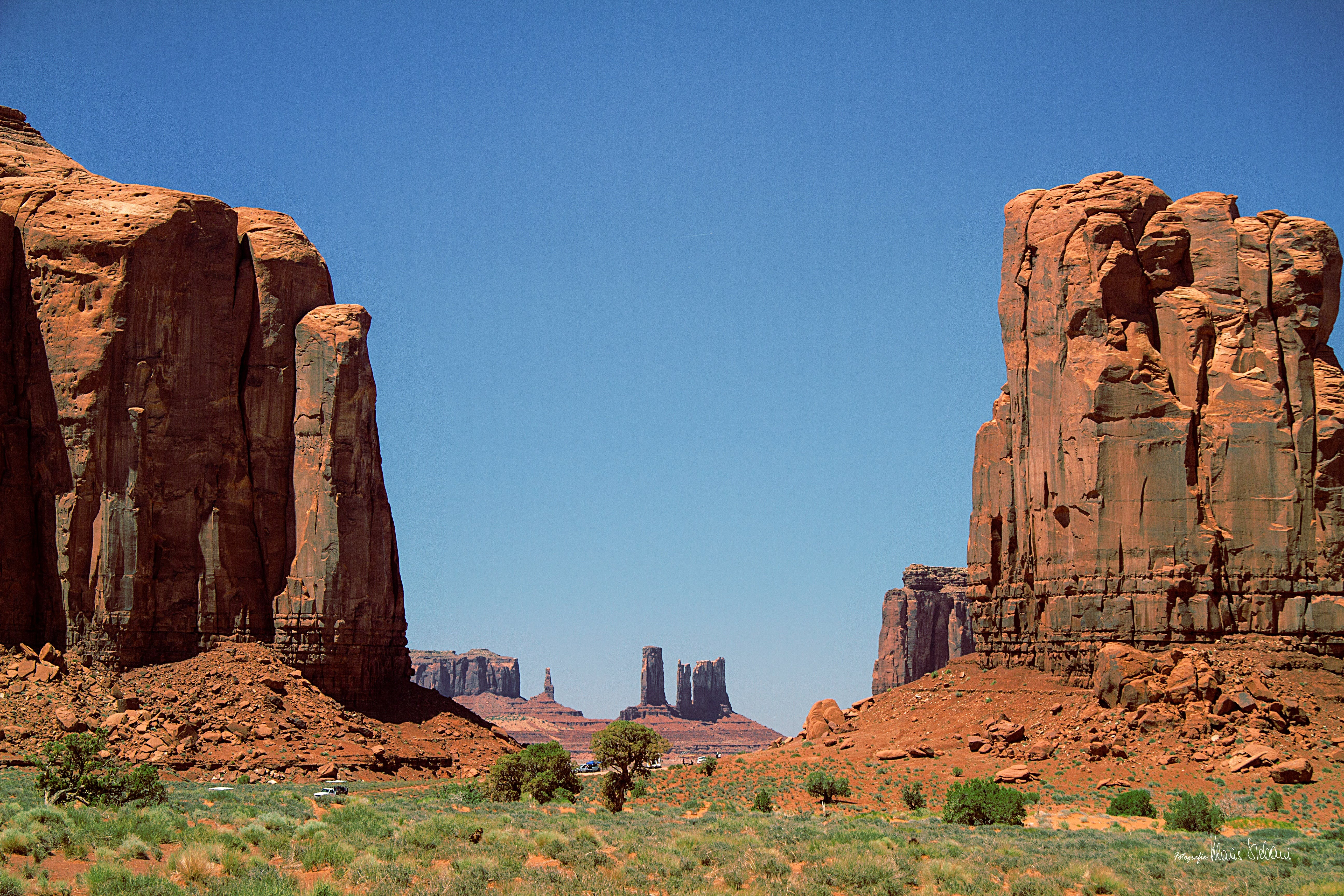 Two Rock Formations on Desert