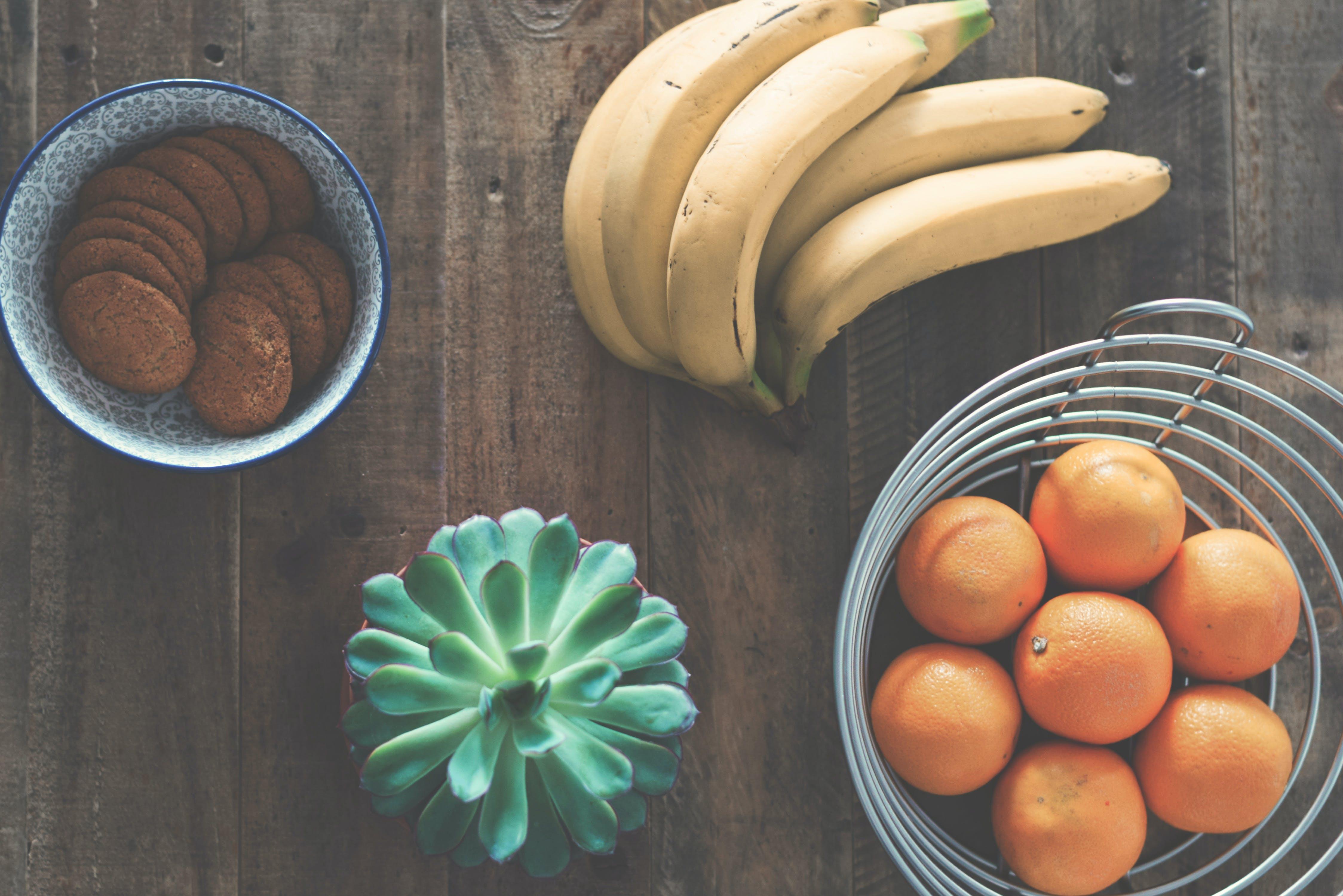 bananas, bowl, breakfast