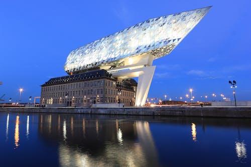 Boat-shaped Above Concrete Building