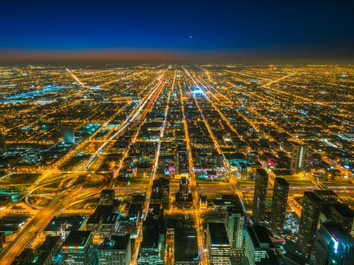 Bird's Eye View Photography Of City With Lights