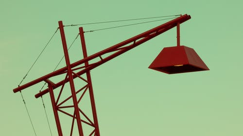 Close-up Photo of Red Metal Street Light Stand