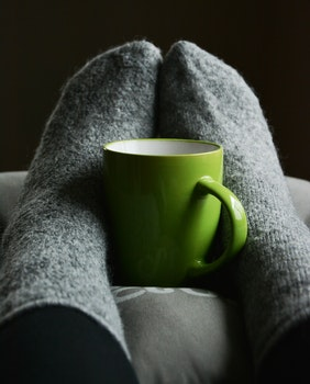 Free stock photo of coffee, cup, mug, feet