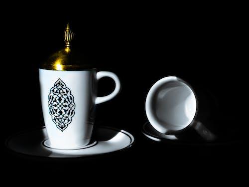 上漆的, 咖啡, 咖啡杯, 封面 的 免费素材照片