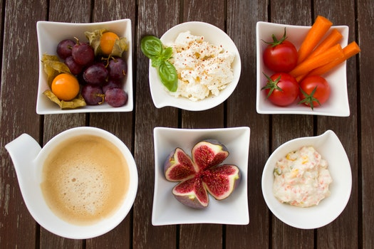 Free stock photo of food, plate, vegetables, coffee