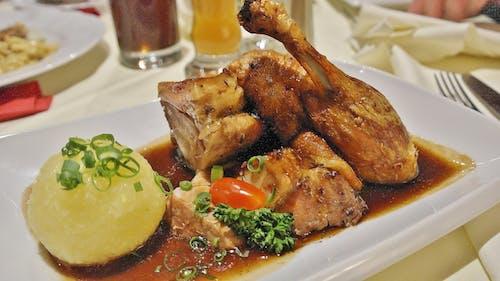 晚餐, 盤子, 肉, 雞 的 免费素材照片