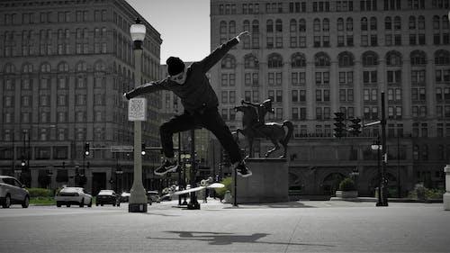 Foto stok gratis bermain skateboard, chicago, jalanan, pusat kota chicago