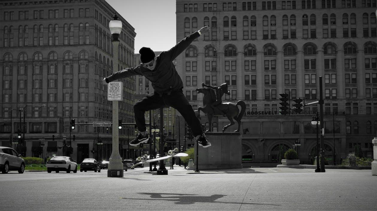 Immagine gratuita di chicago, chicago del centro, fare skateboard