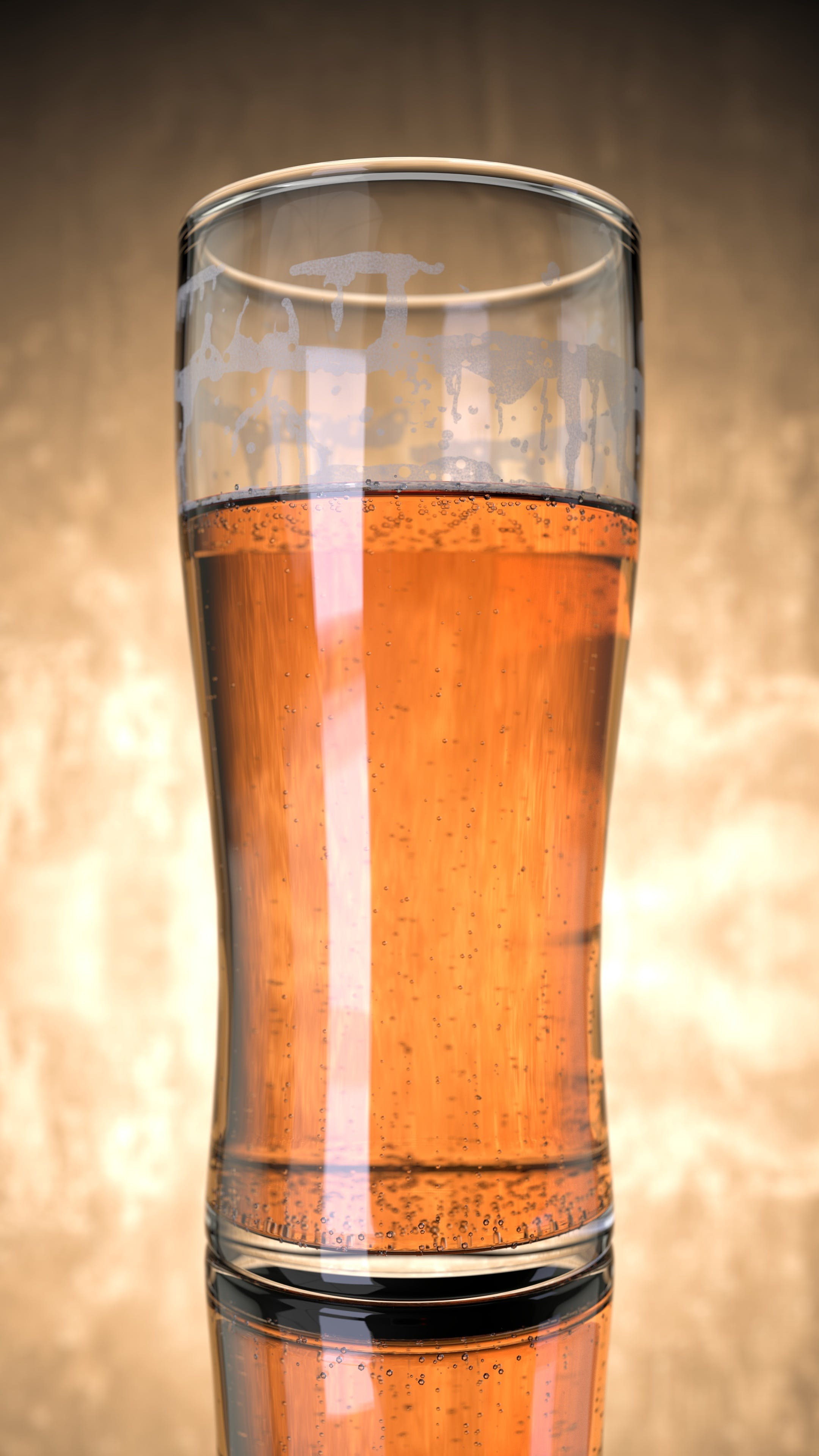 Clear Pilsner Glass With Beverage