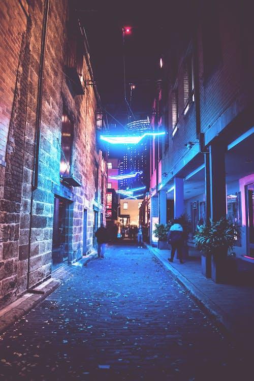 Turned-on Street Lights