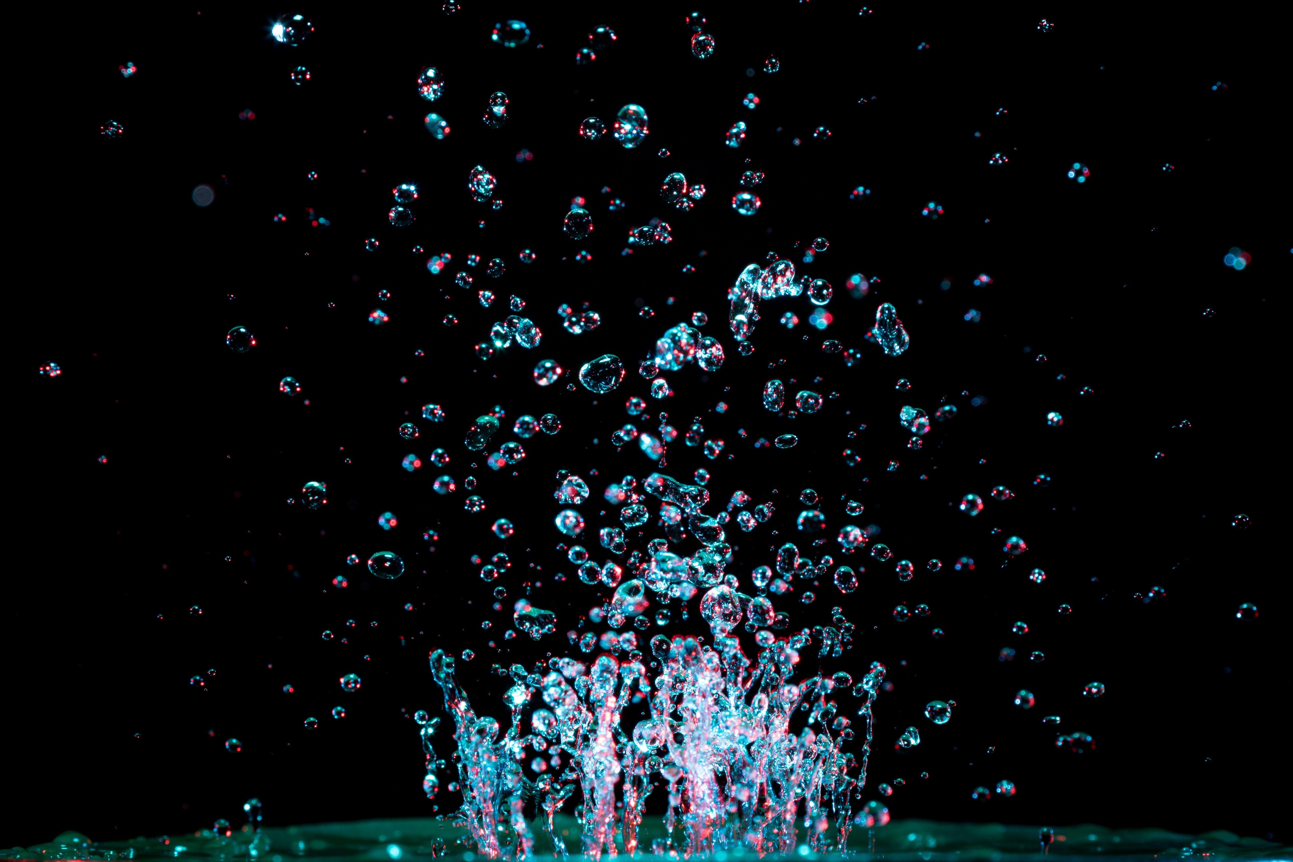 aigua, bombolla, brillant