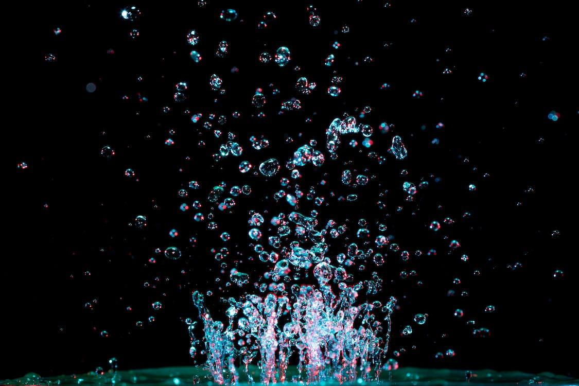 bublina, cákání, časosběr