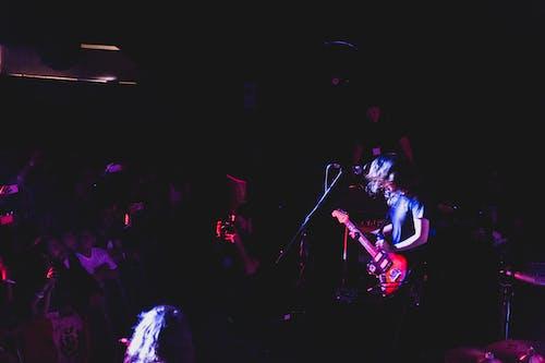 Free stock photo of audience, concert, concert venue, guitarist