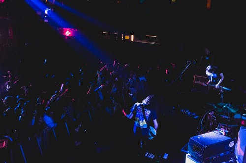Free stock photo of audience, concert, concert venue, guitarists