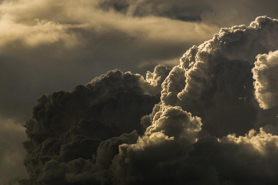 clouds, cloudy, dark clouds