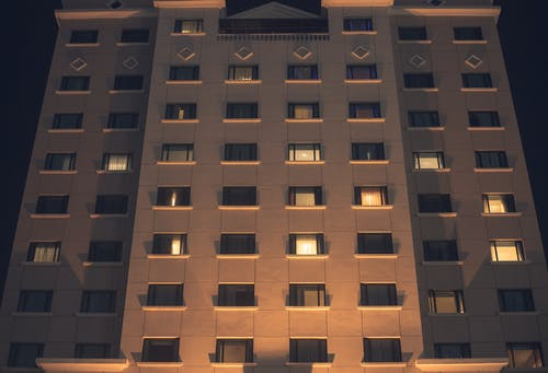 Free stock photo of building, glass windows, hotel