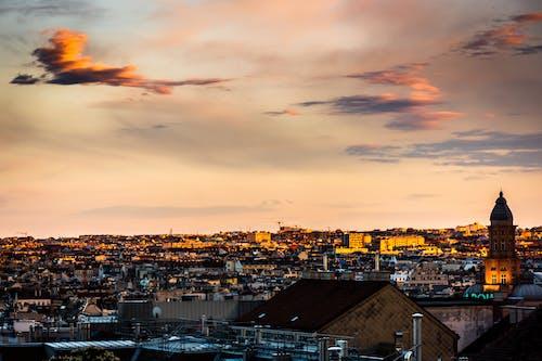 Foto stok gratis awan, matahari terbenam, warna