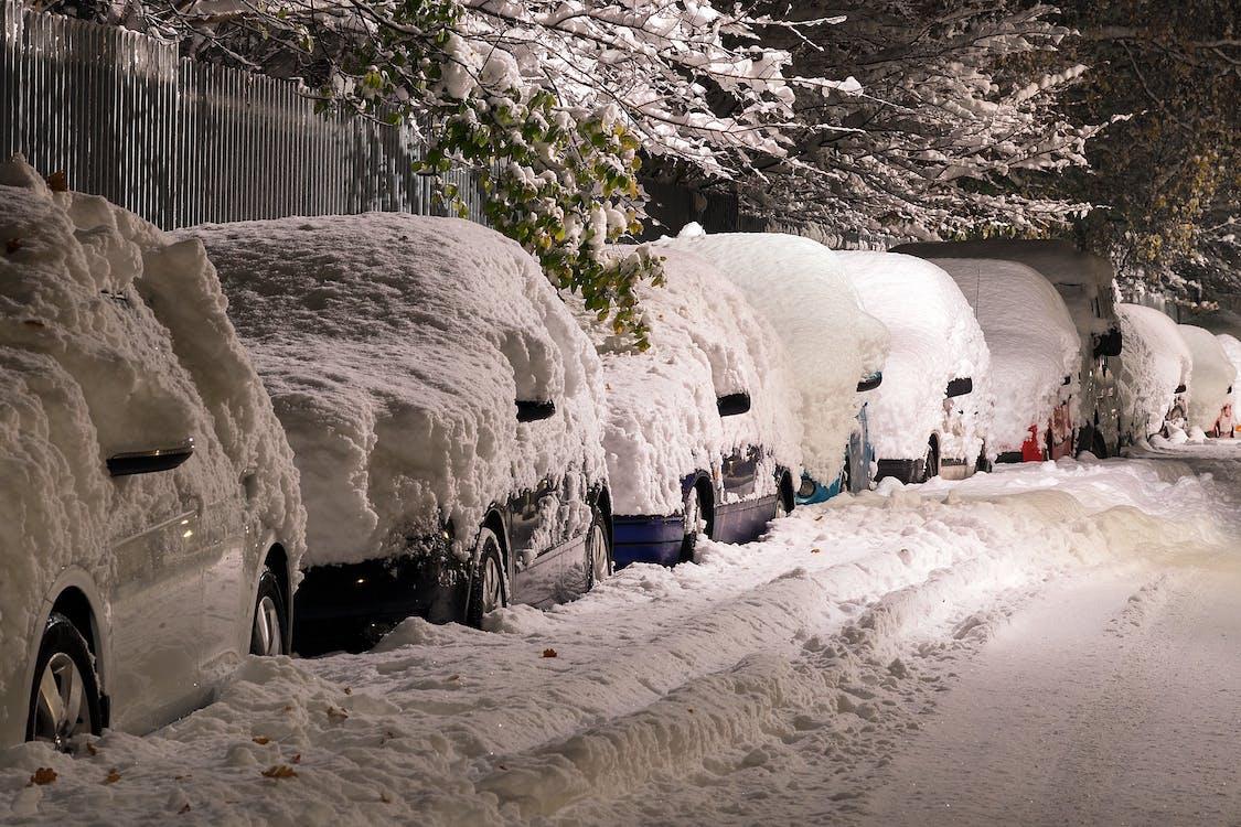 auta, rýma, silnice