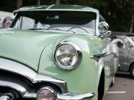 Free stock photo of car, vehicle, classic, headlight
