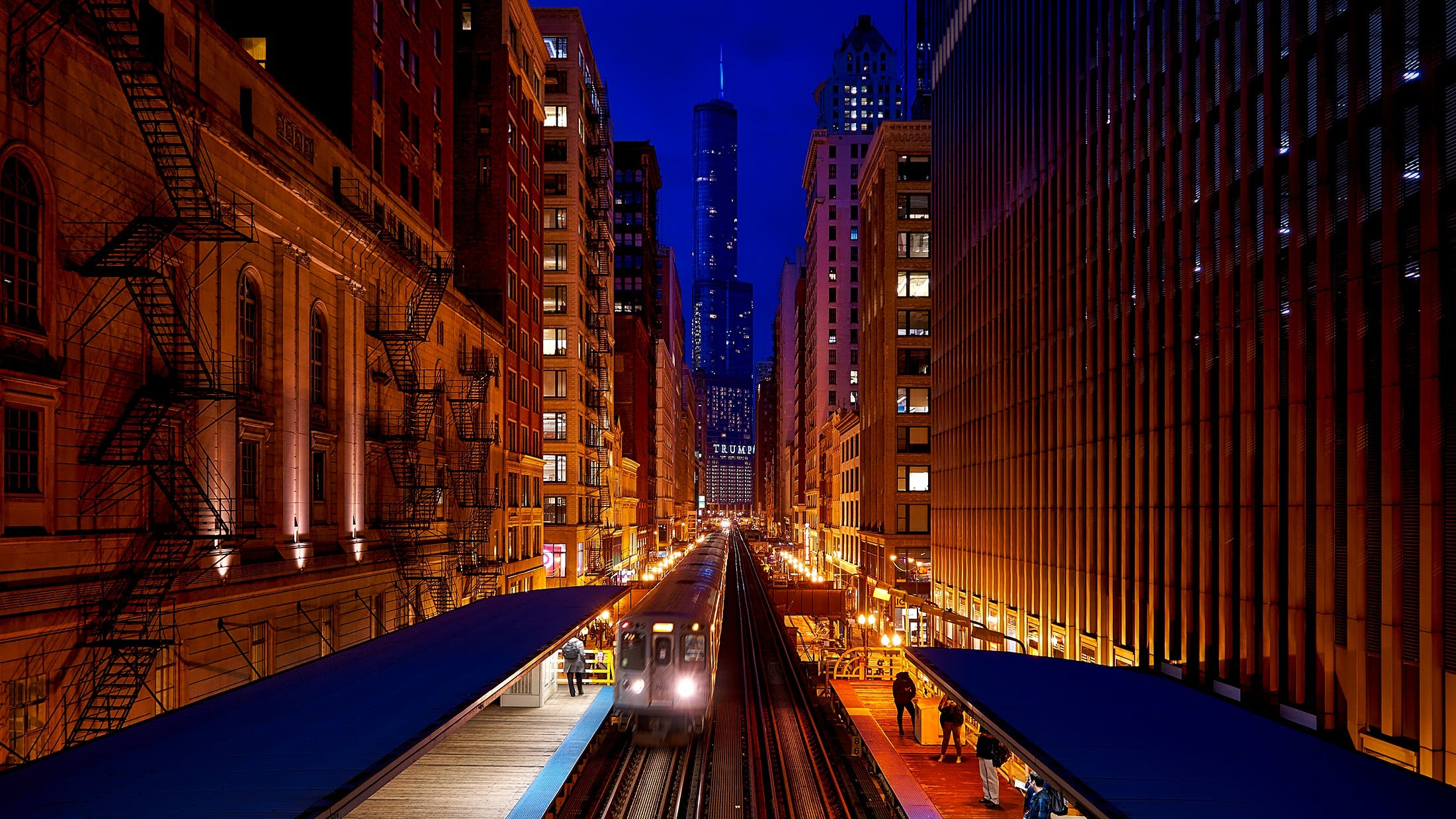 Train Station during Night Time