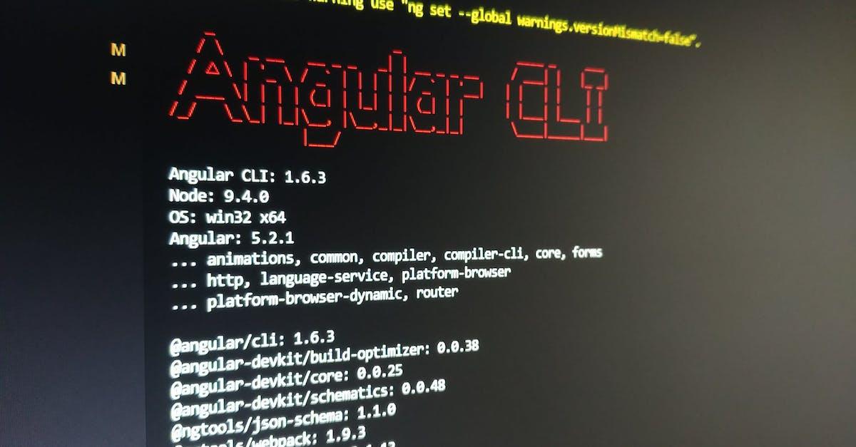 Free stock photo of angular, cli, code